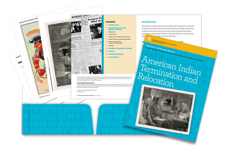 American Indian Termination and Relocation Primary Source Packet at a glance.