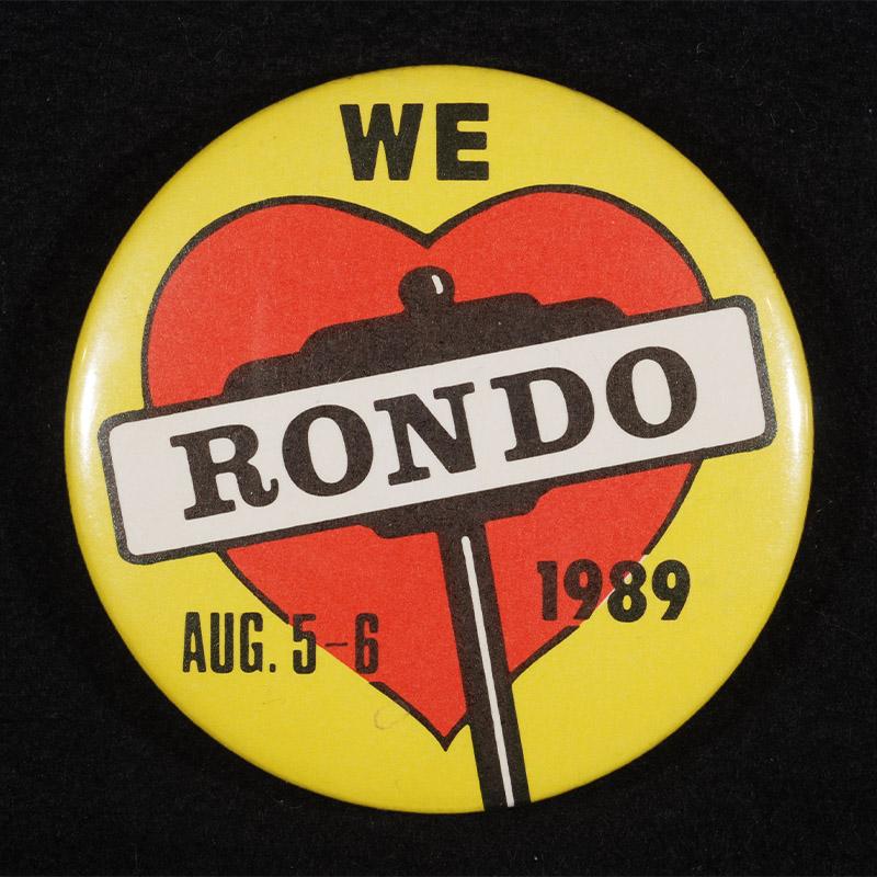 Remember Rondo button, 1989.