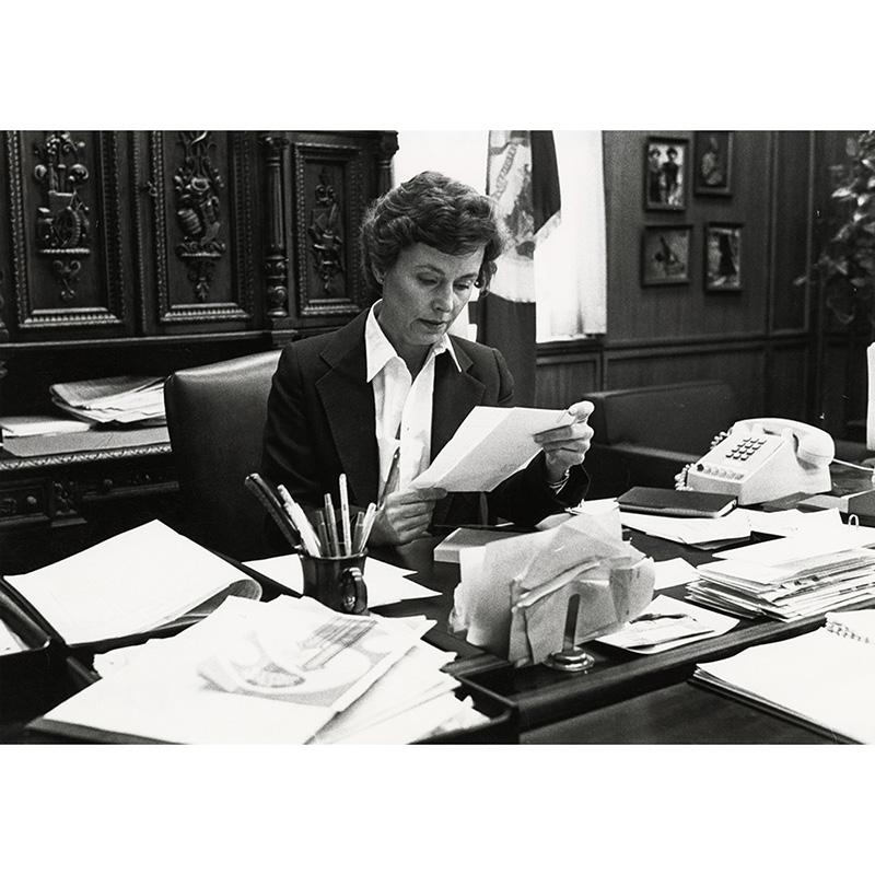 Secretary of State Joan Growe, 1985.