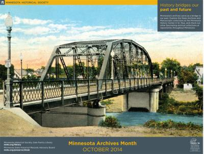 Archives Month poster: History bridges our past and future