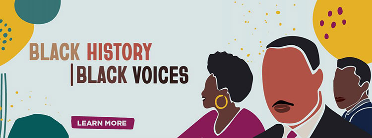 Black History, Black Voices, learn more.