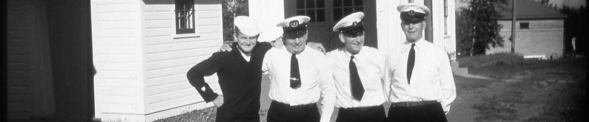 Four lighthouse keepers, circa 1945