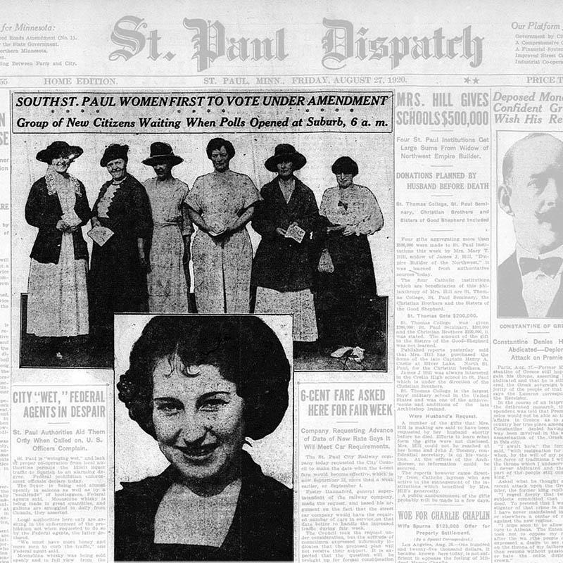 St. Paul Dispatch, women vote, 1920.
