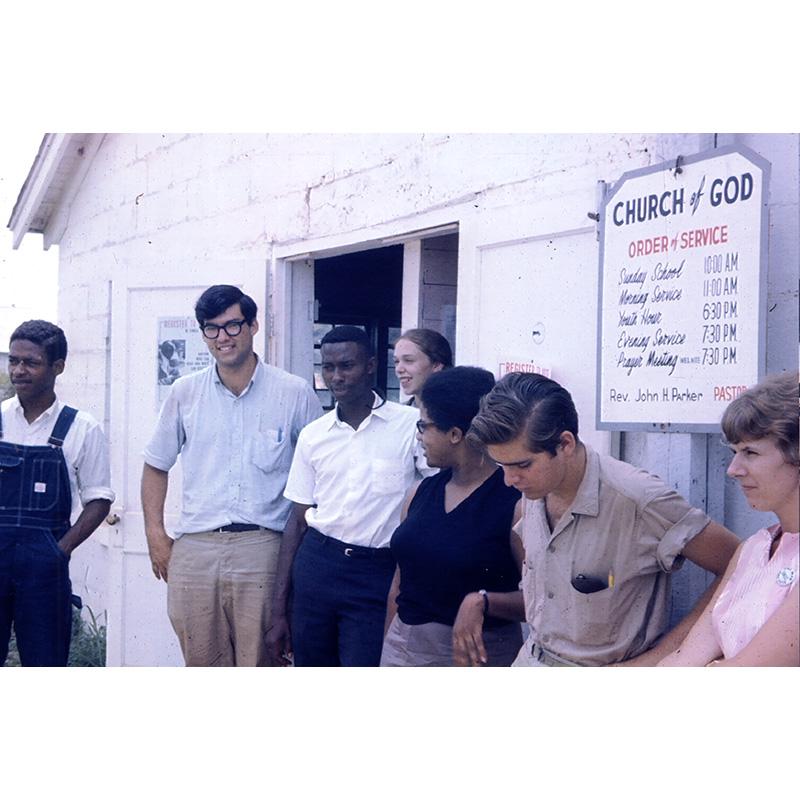 Staff outside church, 1964.