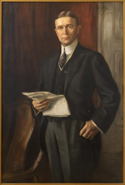 Painting of Adolph O. Eberhart