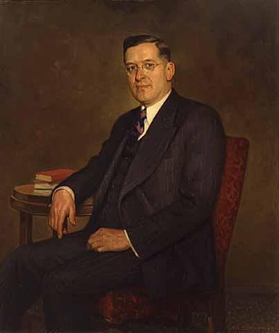 Painting of Elmer Benson
