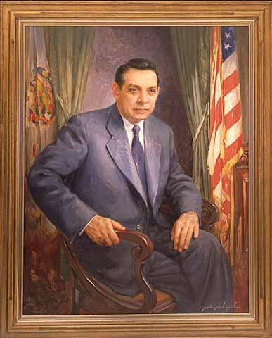 Painting of Clyde Elmer Anderson