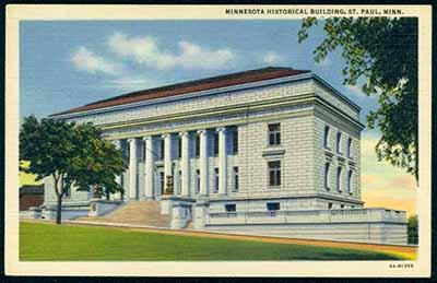 Image:  Exterior view of Minnesota Historical Society, St. Paul, 1936