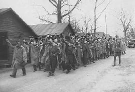CCC members leaving Fort Snelling. Location no. E445.2 p12