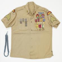Military shirt worn by Sgt. Shirley Quentin Red Boy 1940s