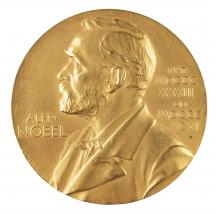 image of the 1930 Nobel Prize in Literature awarded to Sinclair Lewis