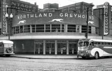 Greyhound Bus Depot around 1937 MNHS collections