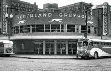 Greyhound Bus Depot around 1937 MNHS collections