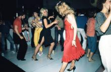 Disco dancers at Uncle Sam's about 1977 photo by Seven Laboe