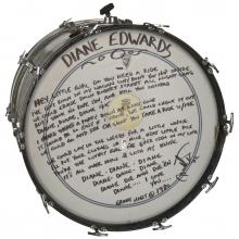Grant Hart bass drum MNHS collections