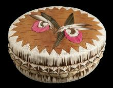 Quilled birch bark box made by Melvin Losh ​2010