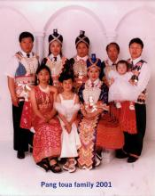 The family of Pang Toua Yang and Mai Vang, about 2001