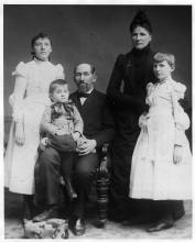 Solomon & Sarah Comstock and children, 1890