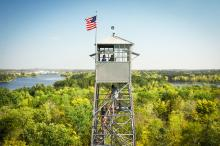 Forest History Center fire tower
