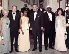 Somali prime minister meets with President Lyndon Johnson at White House, 1968