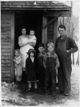 Farm family from Hollandale, Minn., who appealed for aid in the early years of the Great Depression, 1929.