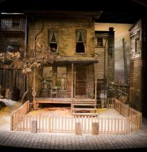 "A portion of the set from the 2016 production of ""Fences"""