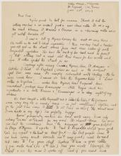 Image of page 1 of a handwritten letter by F. Scott Fitzgerald to Thom Boyd with reference to Lewis