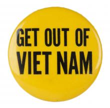 Get Out of Viet Nam button