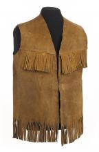 Suede vest with fringe work by Jimi Hendrix