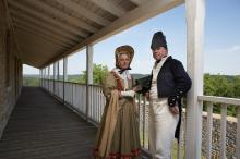 Colonel Josiah Snelling and Mrs. Snelling