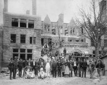 James J. Hill House Construction Crew, 1891, photo by Schuyler M. Taylor