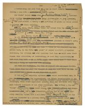 Image of typeset manuscript page with Lewis' handwritten notes