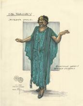 Costume sketch for Ma Rainey's Black Bottom