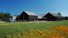 Rendering of new Oliver Kelley Farm visitor center