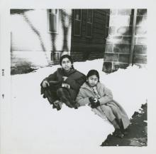 Dixit sisters in snow