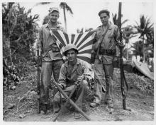 Marines from St. Paul on Guam, 1944.