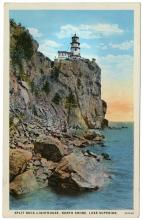 Split Rock Lighthouse, postcard, 1934