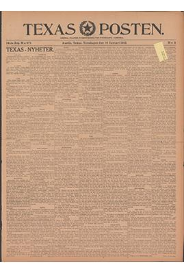 texas posten newspaper page