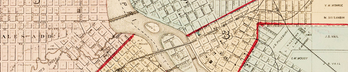 Plan of the City of Minneapolis and vicinity, 1874.
