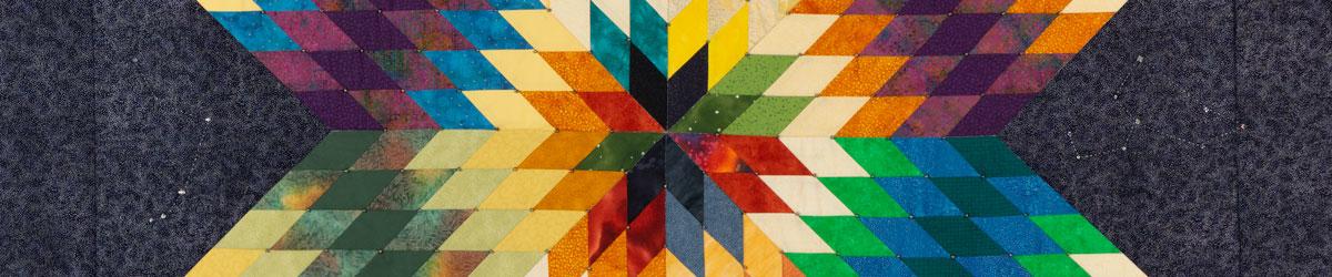 Star quilt, Gwen Westerman (Sisseton Wahpeton Oyate), 2014.