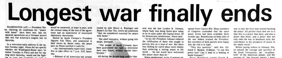 Mankato Free Press, January 24, 1973. Pages 1.