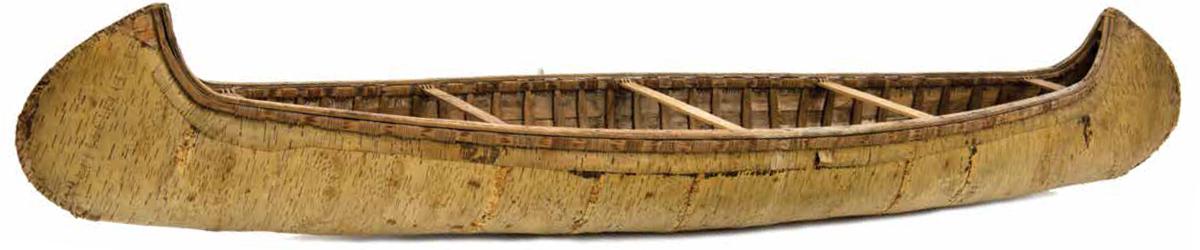 Birch bark canoe. Created 1900.