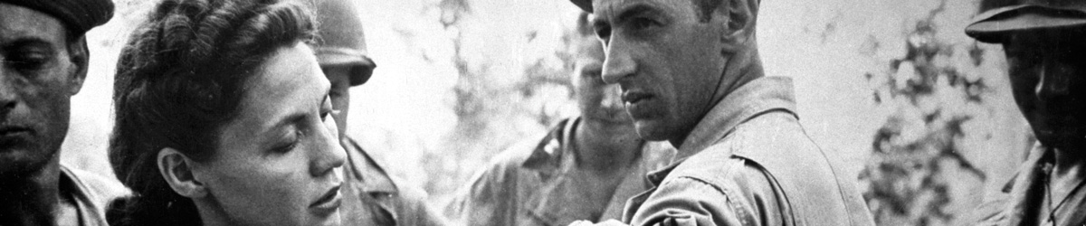Lieutenant Ernestine Koranda giving injection, Papua New Guinea, 1943.