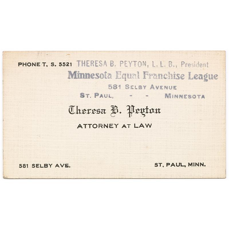 Theresa Peyton business card.