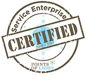 Points of Light Foundation logo for certified Service Enterprise organizations