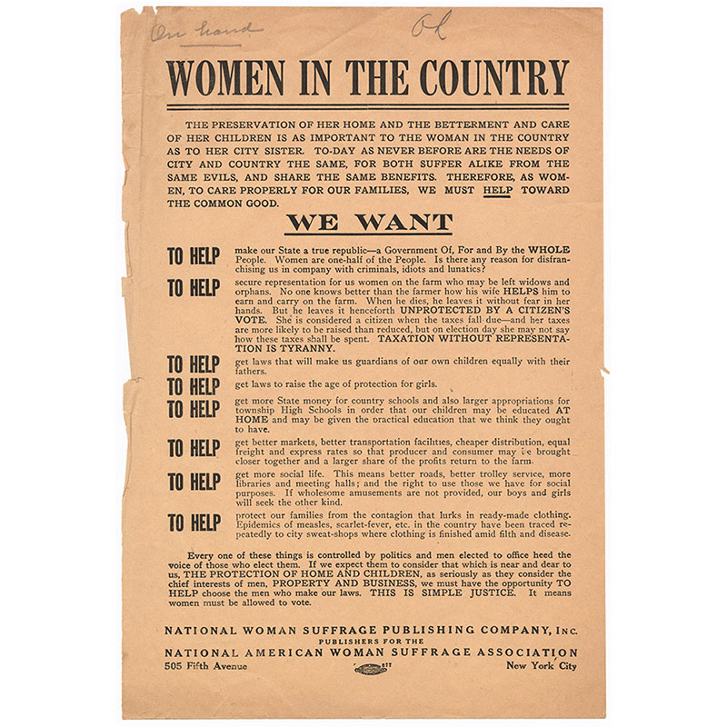 Women in the Country flyer