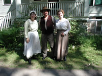 Living History players at the Lindbergh Historic Site