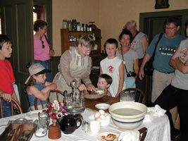 Visitors at Bread Making Day