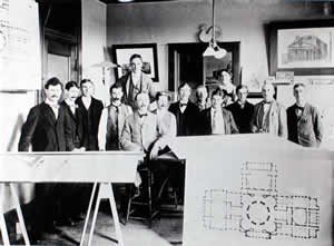 Cass Gilbert and draftsmen