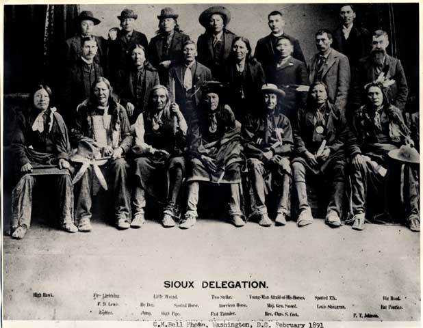 Wounded Knee Sioux Delegation
